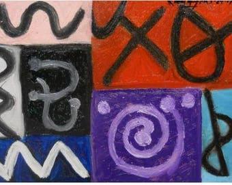 artist studio, abstract painting