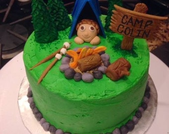 Happy Camper Cake Topper Set