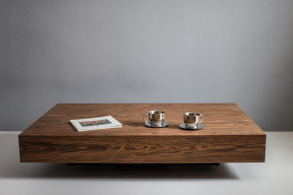 Items Similar To Modern Low Profile Square Coffee Table On Etsy