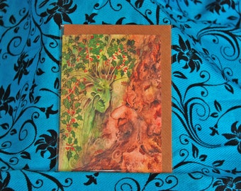 The Holly and Oak King Pagan Card A6