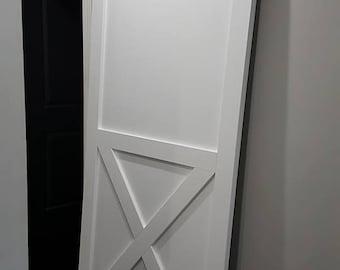 White Barn Door with Hardware