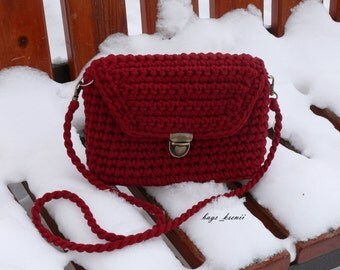 Cherry crochet bag /Crochet handbag