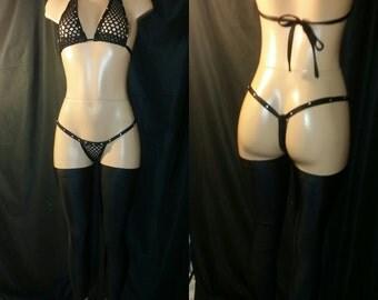 Exotic Dancewear with leg pieces set