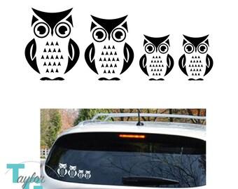 Owl Family Car / Window Decal