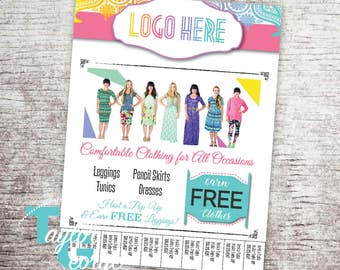 Lula Pop Up Party Flyer - Tear Tabs - with Your Info - Pop Up Flyer - Pop Up Party Flyer - Hostess Flyer - Pop Up Flier