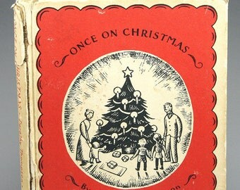 Once on Christmas, Book by Thompson, pictures by Lois Lenski, RARE 1938, Prop, Small Christmas Book