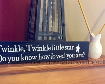 Twinkle, Twinkle little star adorable wood sign