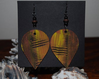 Large Ceramic Dangle Earrings