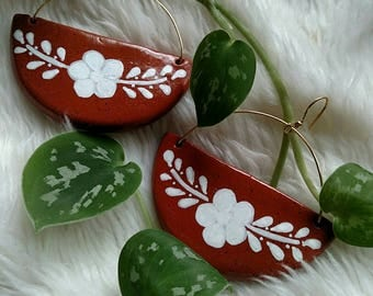 Mexican style clay earrings