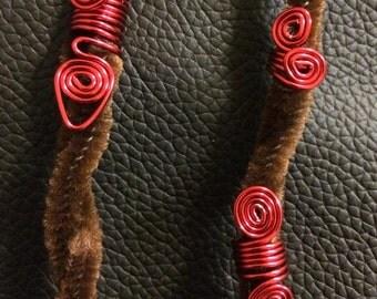 Cute red loc jewelry