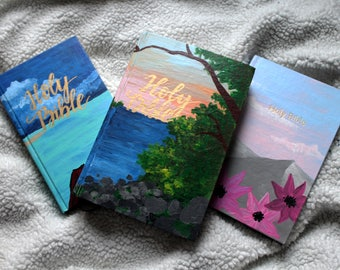 Custom Landscape Bible | Handpainted Bible Cover