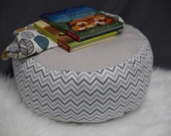 Unisex Nursery/Children's Pillow Pouf/Chevron/Customizable Pillow/Foot Stool/Floor Pillow/Floor Pouf/Playroom Floor Pillow