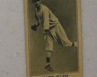 1916 m101-5 Babe Ruth with Sporting news Back