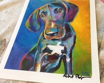 Great Dane Art Print by Robert Phelps, Great Dane art, Colorful Dog Art, Dog Art, Great Dane Gifts, Great Dane Lover, Great Dane Portrait,