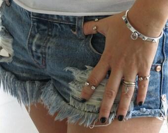 Silver bangle bracelet, stainless steel bracelet, statement bangle bracelet, stacking bracelet, modern bracelet, stainless bangle bracelet