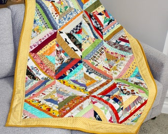 child's patchwork quilt, I Spy/Imagination quilt.  Cot size or play mat