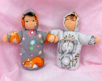 SOLD!! Waldorf, Steiner andorable bag dolls, hand made