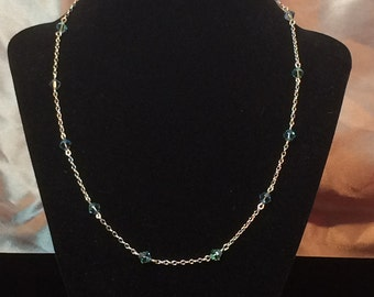 Sterling Silver Floating Illusion Swarovski Crystal Necklace