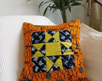 African textiles homemade cushion