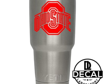 Yeti Decal Sticker - Ohio State Decal Sticker For Yeti RTIC Rambler Tumbler Coldster Beer Mug