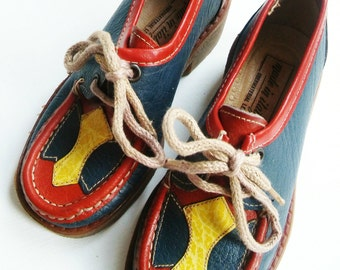 NeW ShoEs leatHer size 9.5 new hipster shoes 28 retro VinTage 70's new leather shoes leather