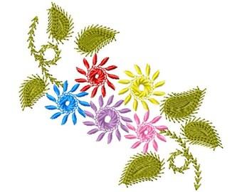 Floral Embroidery Design, Embroidery Design, Flower Embroidery, Machine Embroidery, Embroidery, Flower, Flower Design, Instant Download
