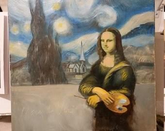 Mona painting starry night