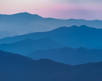 Smoky Mountains Print, Mountain Art, Sunset Print, Smokey Mountains Print, Smokey Mountains Photo