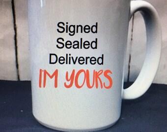 personalized white mug - personalized gift for him - love mug - name mug - custom mug -valentines gift for him - love gift - i'm yours gift