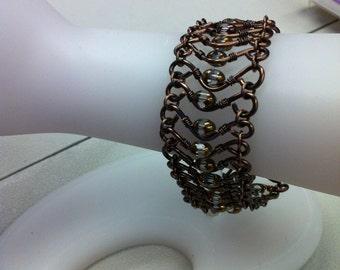 Copper & Jewel Bracelet