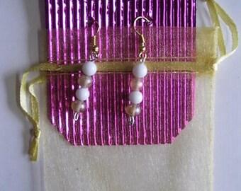 Faux, Pearls, Earrings, Jewellery,