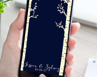 Birch Trees Custom Snapchat Geofilter, Wedding Snapchat Filter,  engagement Filter, rustic trees filter