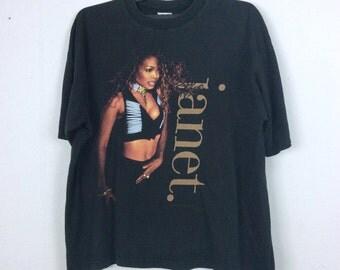 Vintage 90s Janet Jackson Shirt Singer / Actress / Writer / Pop Band Tees Music Lover