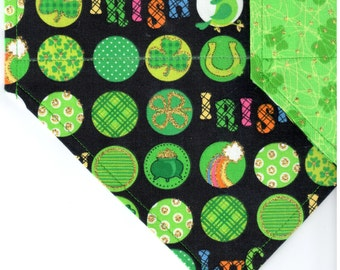 Lucky Irish | St Patrick's Day Dog Bandana | Puppy Bandana | Pet Bandana | Over the Collar Bandana