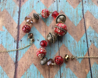 Beaded Necklace, Red Southwest Necklace, Southwest Jewelry, Southwestern Jewelry, Necklace, Gift For Her