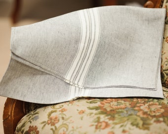 Linen kitchen tea towel / grey