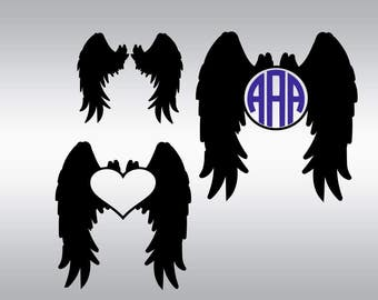 Angel wings svg, Angel svg, Wings svg, Wings clipart, Angel wings clipart, Heaven svg, Memorial svg, Cricut, Cameo, Svg, DXF, Png, Pdf, Eps