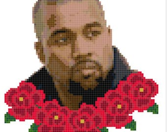 Kanye West cross stitch pattern