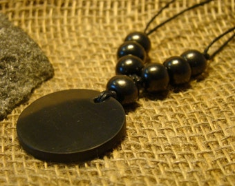 "Shungite necklace ""Circle"" with beads of Karelia."