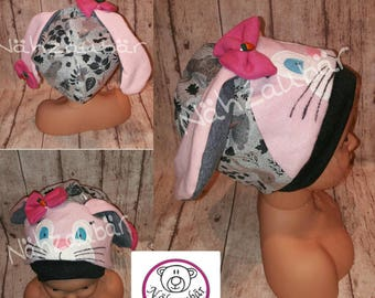 "Bunny ear hat ""Ohrelie"" KU 53, ready for delivery"