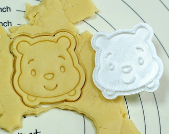 Pooh Face Cookie Cutter and Stamp