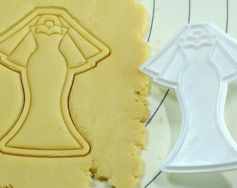 Wedding Dress Cookie Cutter and Stamp