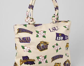 Louisiana State University TIGERS Hawaiian Tote Bage