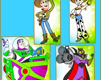 Toy Story svg -Layered Disney Toy Story SVG files -Buzz Lightyear svg PNG Jpeg - Toy Story Designs for Cricut and Silhouette