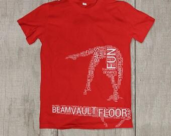 BEAM CLOUD-Gymnastics Shirt-Beam-Handspring-Cute Gymnast T-Shirt-Kids Gymnastics Shirt-Gymnastics Gift-Gymnast Shirt-Gymnast-Beam Queen