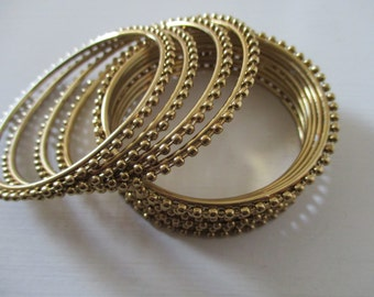 Beaded Gold Design Bangles