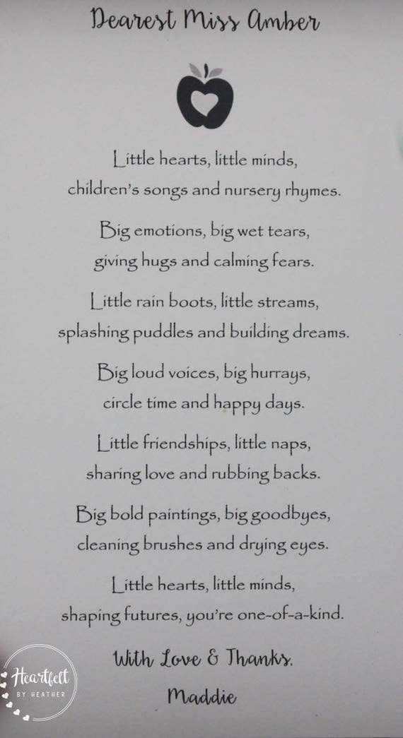 Thank You Poems For Preschool Teachers | www.pixshark.com ...