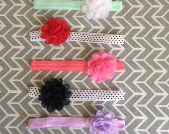 Baby Flower Headband | Baby Headband | Stretchy Headband