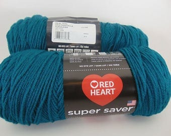 Real Teal -  Red Heart Super Saver yarn worsted weight - 2053