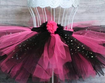 Hot Pink and Black Sparkle Tutu